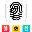 Fingerprint loop type icon. — Stock Vector #32425989