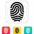 Fingerprint loop type icon. — Stock Vector