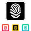 Fingerprint and thumbprint icon. — Stock Vector #32425993