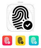 Fingerprint accepted icon. — Stock Vector