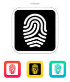 Fingerprint and thumbprint icon. — Stock Vector