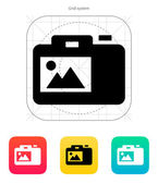 SLR camera icon. — Stock Vector