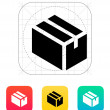 Cardboard box icon. — Stock vektor