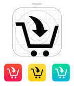 Add to shopping cart icon. — Stock Vector