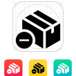 Remove box icon. — Vettoriali Stock