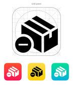Remove box icon. — Stock Vector