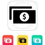 Dollar banknotes icon. — Stock Vector #32710337
