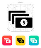 Bundle with dollar sign icon. — Stock Vector