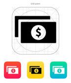 Dollar banknotes icon. — Stock Vector