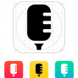 Studio microphone icon. — Stock Vector