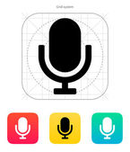 Retro microphone icon. — Stock Vector