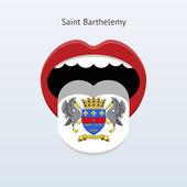 Saint Barthelemy language. Abstract human tongue. — Stock Vector