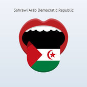 Sahrawi Arab Democratic Republic language. — Stock Vector