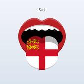 Sark jazyk. abstraktní jazyk člověka. — Stock vektor