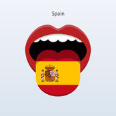 Spain language. Abstract human tongue. — Stock Vector