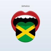 Jamaica language. Abstract human tongue. — Stock Vector