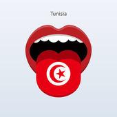 Tunisia language. Abstract human tongue. — Stock Vector