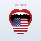 United States language. Abstract human tongue. — Stock Vector