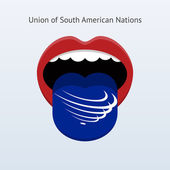 Union of South American Nations language. Abstract human tongue. — 图库矢量图片