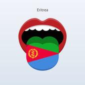 Eritrea language. Abstract human tongue. — Stock Vector