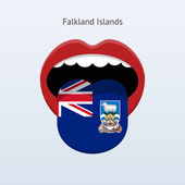 Falkland Islands language. Abstract human tongue. — Stock Vector