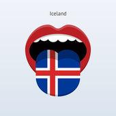 Iceland language. Abstract human tongue. — Stock Vector