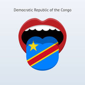 Democratic Republic of the Congo language. — Stock Vector