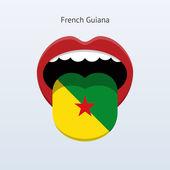 French Guiana language. Abstract human tongue. — Stock Vector