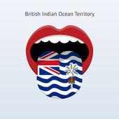 британская территория индийского океана язык. — Cтоковый вектор