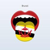 Jazyk, brunej. abstraktní jazyk člověka. — Stock vektor