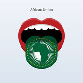 African Union language. Abstract human tongue. — Stock Vector