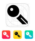 Key blank icon. — Stock Vector