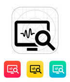 Pulse monitoring icon. — Stock Vector