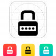 Lock with password icon. — Vettoriale Stock