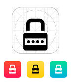 Lock with password icon. — Stock Vector