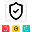 Shield with check mark icon. — Stock Vector