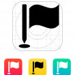 Golf flag icon. — Stock Vector