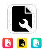 Repair File icon. — Stock Vector