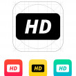 High definition icon. — Stok Vektör #33594293