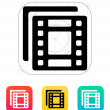 Films icon. — Vettoriali Stock