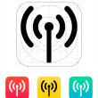 Radio antenna sending signal icon. — Stockvectorbeeld