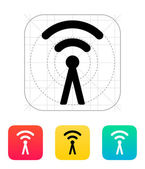 Antenna broadcasting radio signal icon. — Stock Vector