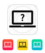 Help and FAQ laptop icon. — Stock Vector