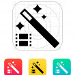 Magic video icon. — Imagen vectorial
