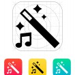 Magic music icon. — Stock Vector #33976185