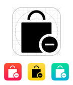 Handbag remove goods icon. — Stock Vector