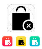 Shopping bag delete icon. — Stockvektor