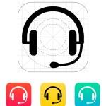 Headset icon. — Stock Vector #34888547