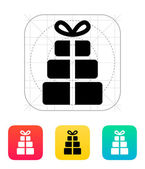 Gift boxes icon. — Vettoriale Stock