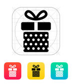 Gift box with dots icon. — Stock Vector